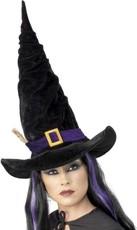 3ffc73fbef0 Klobouk čarodějnice černý s větvičkou