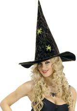 8d0e04499b3 Dámský čarodějnický klobouk s pavouky