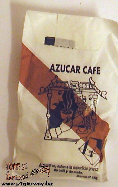 Cukr s překvapením hnědý zrnko kávy