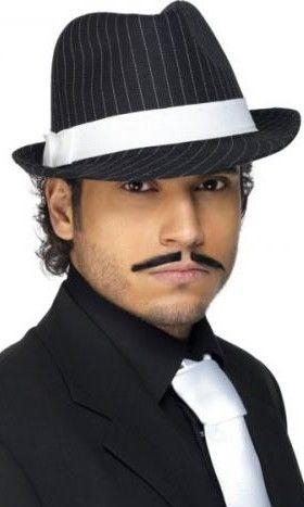 Pánský klobouk černý s proužkem