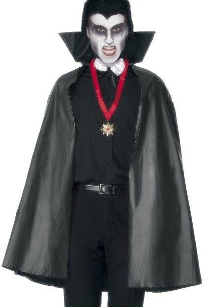 Plášť upír (čert) černý, PVC