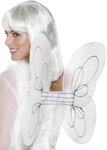 Andělská křídla bílá síťka