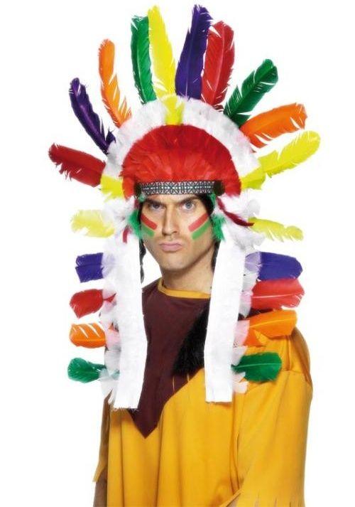 Indiánská čelenka náčelník (barevná)