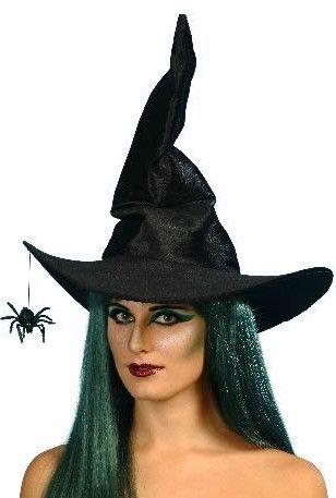 Klobouk čarodějnice s pavoukem (černý)