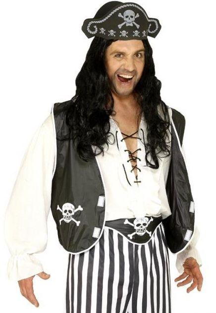 Pirátská sada (vesta, čepice, opasek)