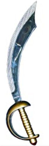 Pirátská šavle stříbrná 50 cm se záslepkou