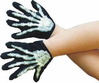 Rukavice kostlivec vystupující kosti (dětské)