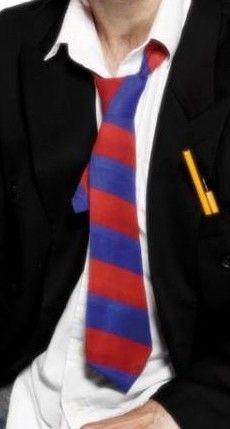 Kravata Školák červená a modrá