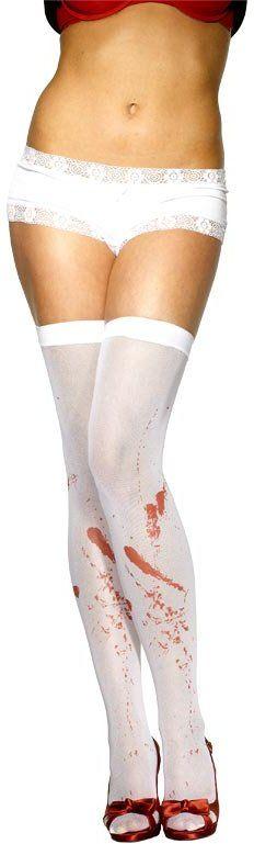Punčochy bílé od krve