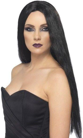 Dámská paruka čarodějnice černá