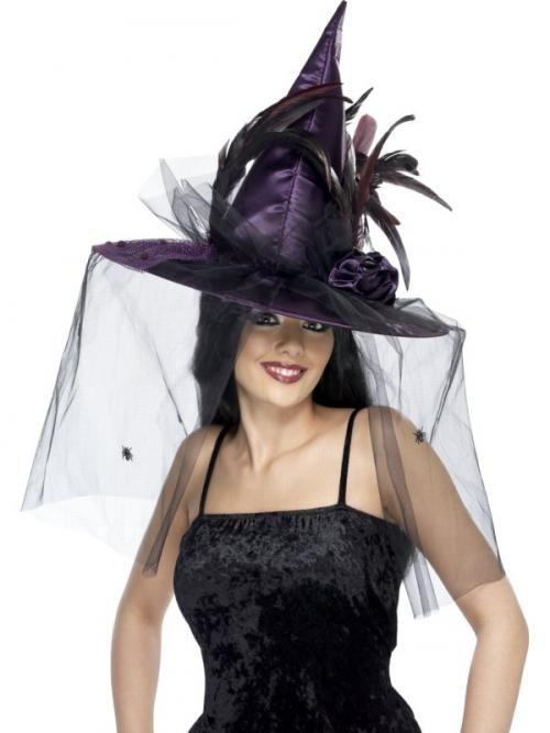 Klobouk Čarodějnice (fialový)