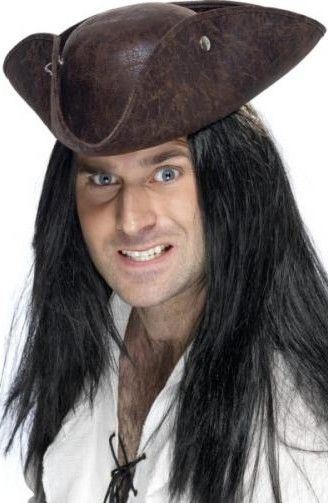 Klobouk Pirát hnědý