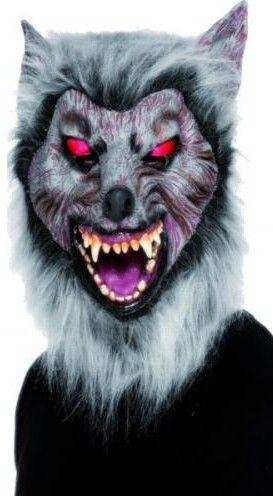Maska vlkodlak (šedá)