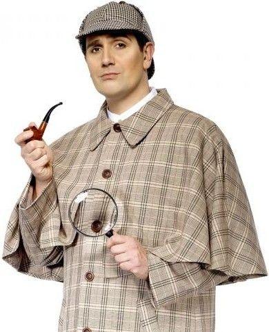 Pánská sada Sherlock Holmes (fajfka, lupa)