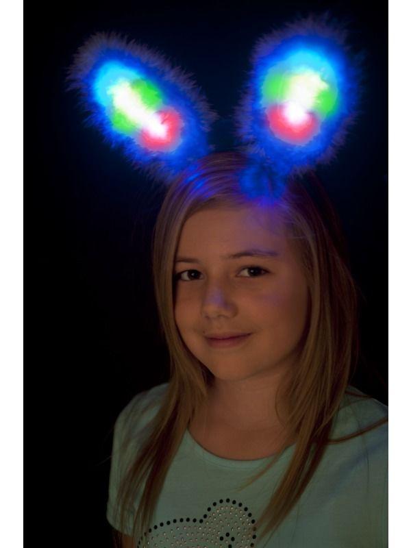 Uši zajíc svítící (modré)
