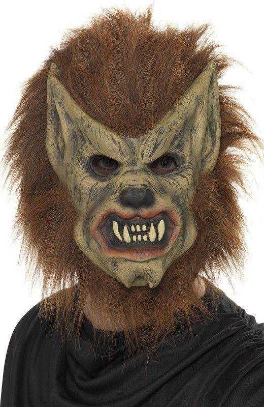 Maska vlkodlak (hnědá)