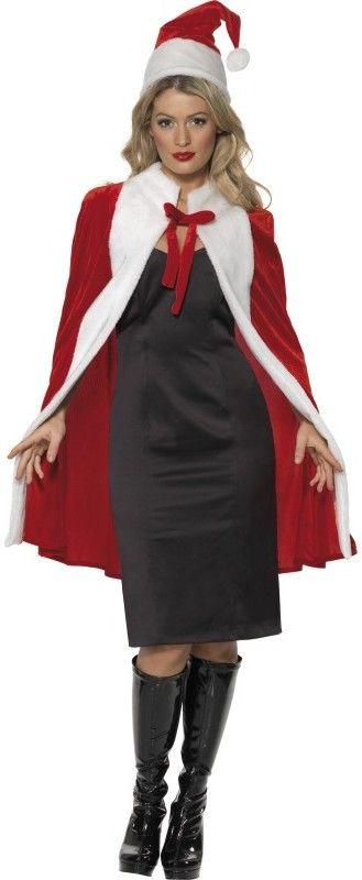 Dámský kostým Miss Santa plášť a čepice