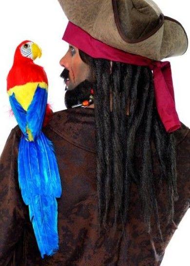 Pirátská sada (papoušek, elastický držák)