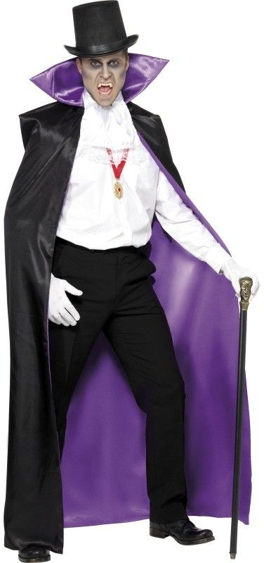 Plášť černý a fialový