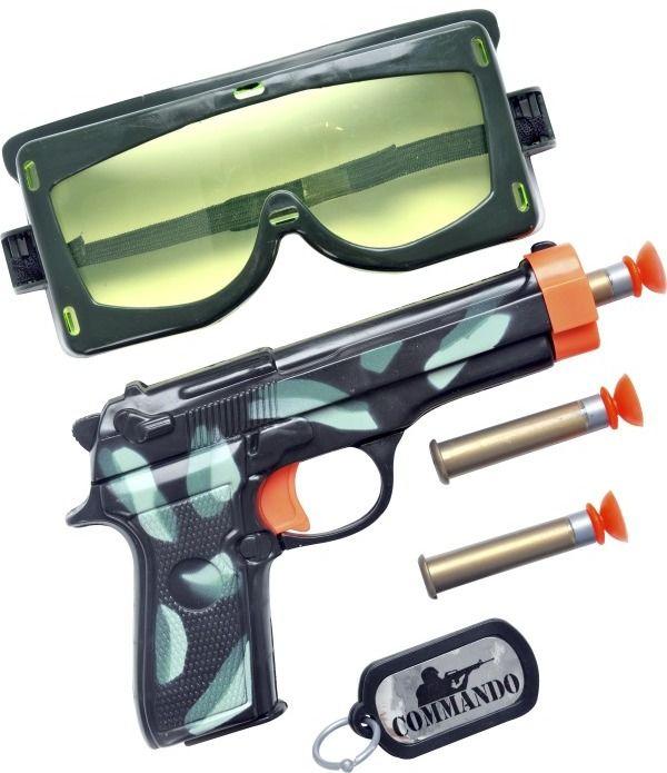 Sada Military (pistole, psí známky, brýle)