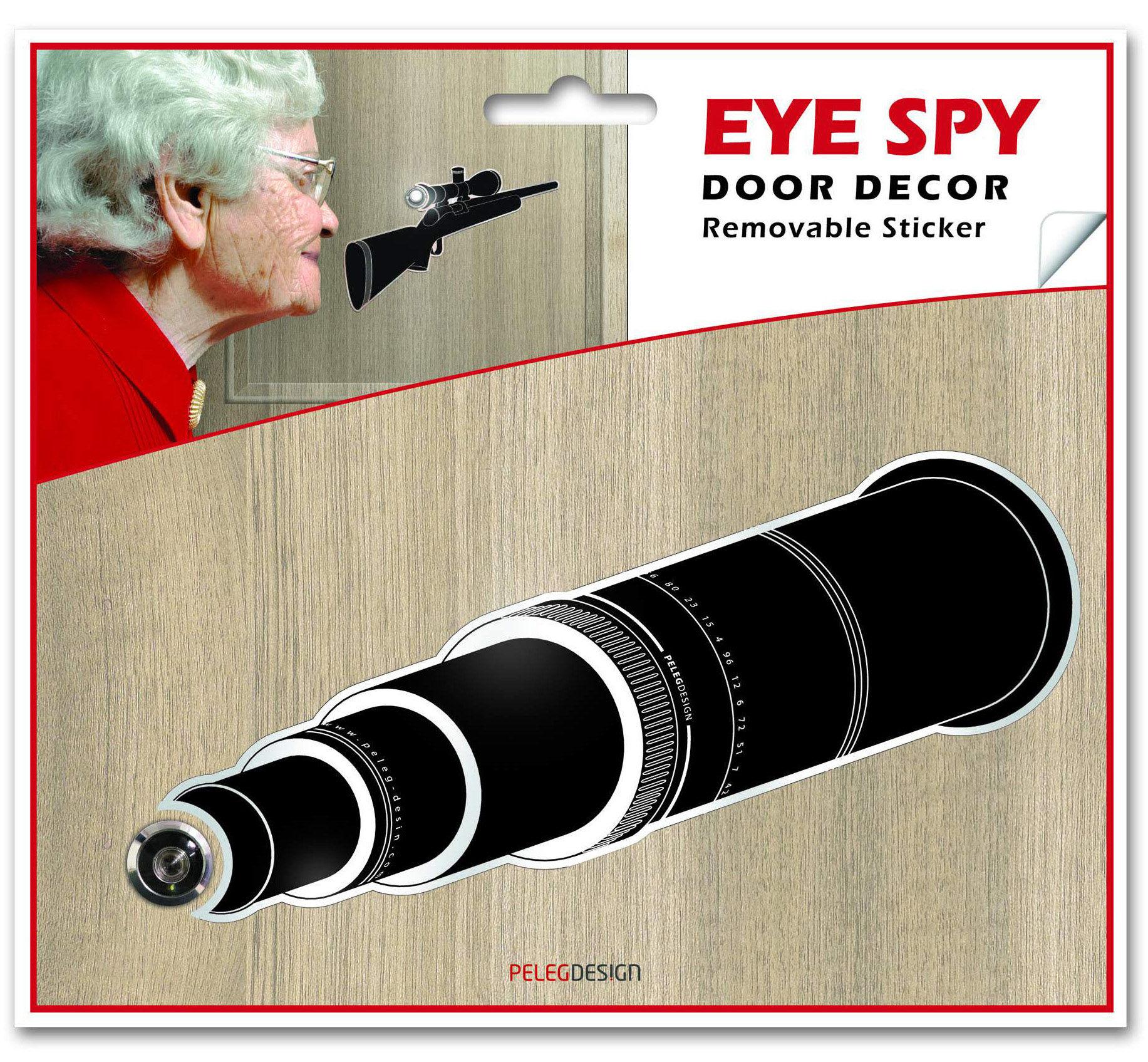 Samolepka k dveřnímu kukátku (dalekohled)