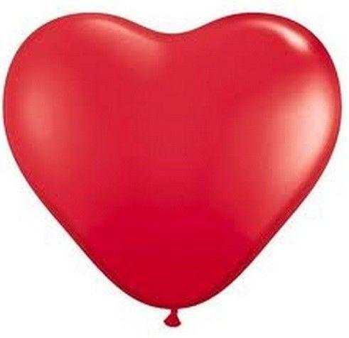 Balónek srdce červené velké 1ks