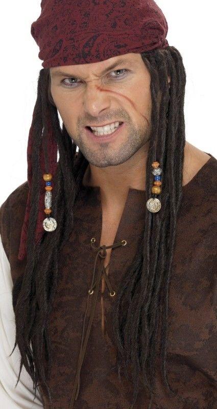 Pánská paruka pirátský kapitán (captain pirate)
