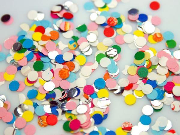 Konfety kolečka barevný mix