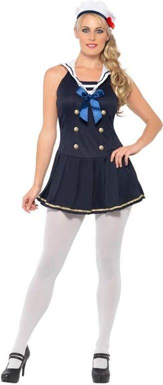 Dámský kostým námořnice (s modrou mašlí)