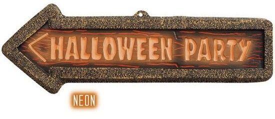 Dekorace šipka 3D neon Halloween party