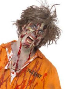 Make up zombie s latexovou hmotou
