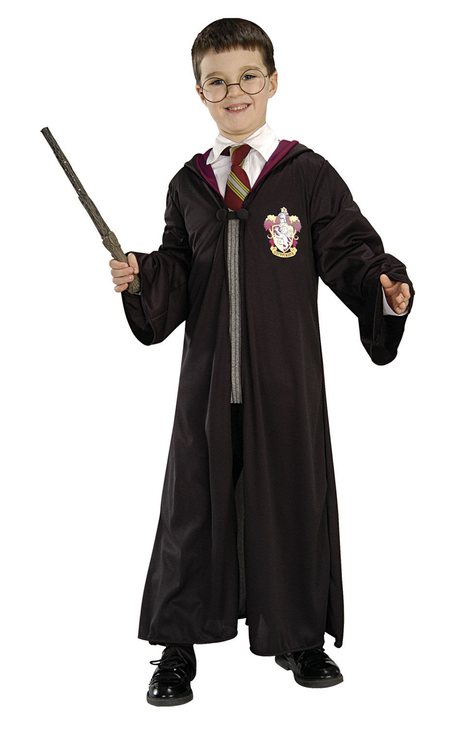 Sada Harry Potter (plášť, spona, kouzelnická hůlká, brýle)