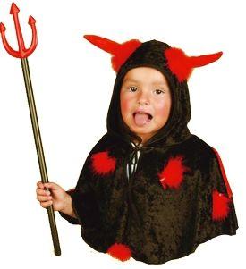 Dětská maska Čert s kapucí