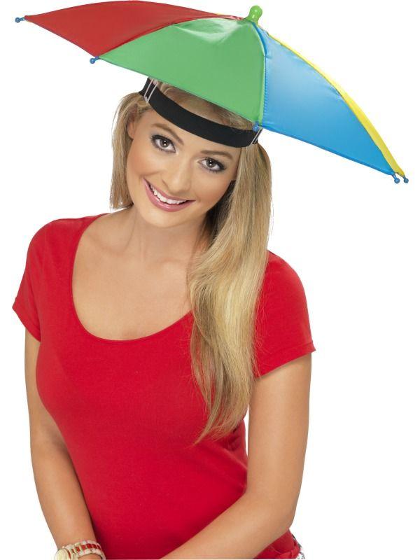 Deštník na hlavu barevný