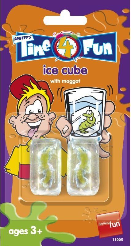 Kostka ledu s červem 2 ks