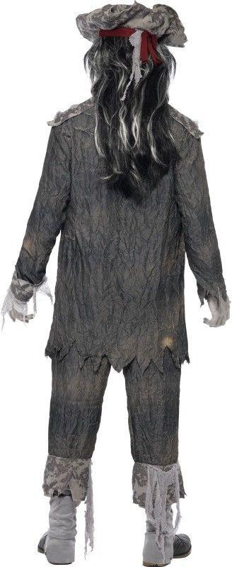 Pánský halloweenský kostým Duch piráta šedý  5ad85954854