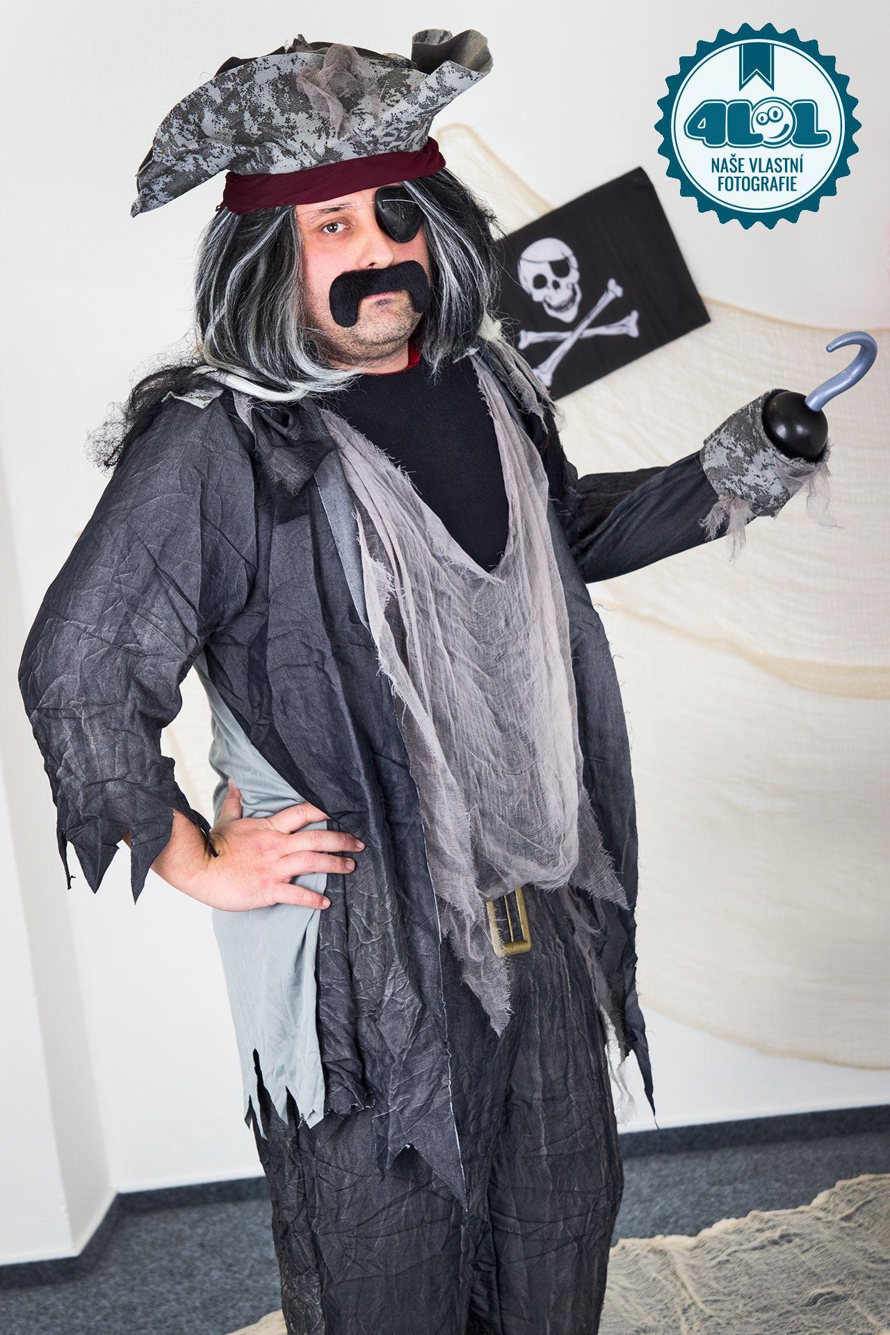 Pánský halloweenský kostým Duch piráta šedý. Zvolte si velikost (Tabulka  velikostí) 53195444e9f