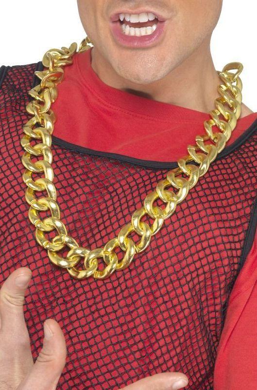 Zlatý řetěz na krk široký
