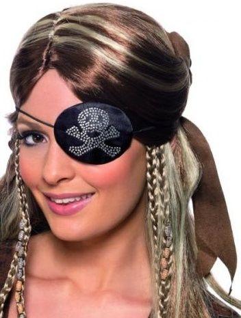 Pirátská záslepka s lebkou (dámská)