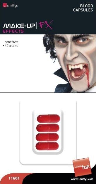 Umělá krev v kapsli k rozkousnutí (4ks v balení)