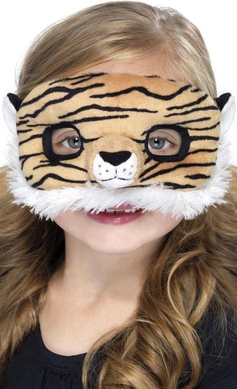 Dětská škraboška Tygr plyšová