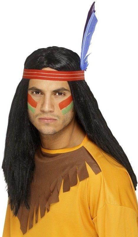 Pánská paruka Indian brave