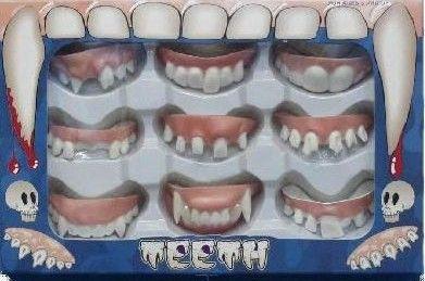 Zuby - sada 9 druhů