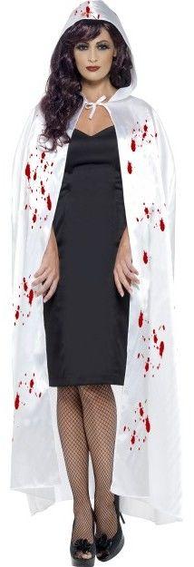 Dámský plášť bílý pocákaný krví