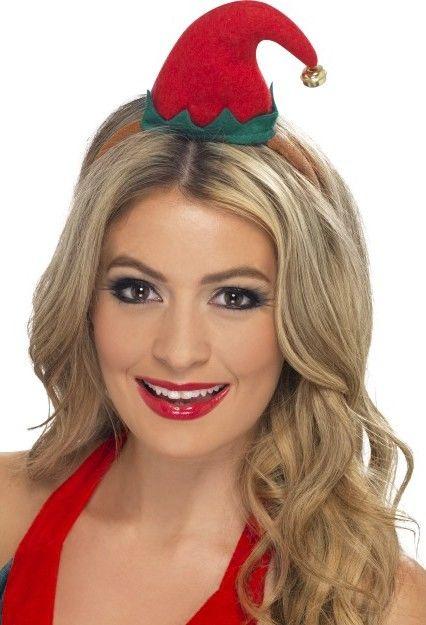 Mini čepice Elf s čelenkou