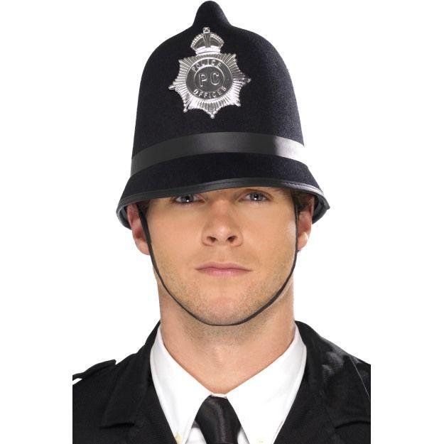 Policejní čepice s odznakem