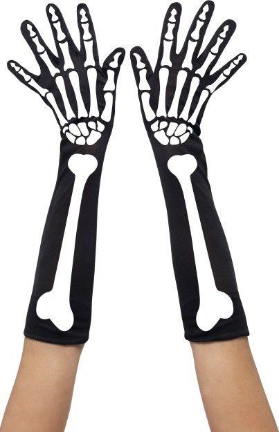 Rukavice s motivem kostí