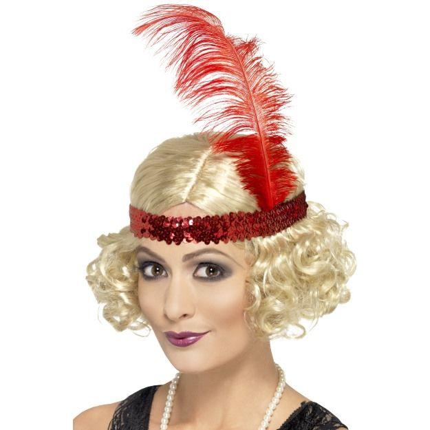 Dámská paruka - Charleston kudrnatá blond s čelenkou