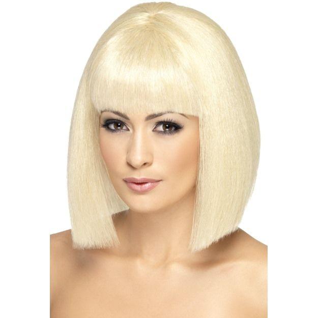 Dámská paruka Coquette blond krátká s ofinou