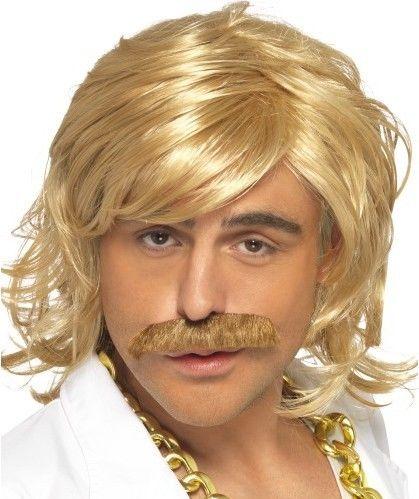 Pánská paruka Game Show blond s knírem